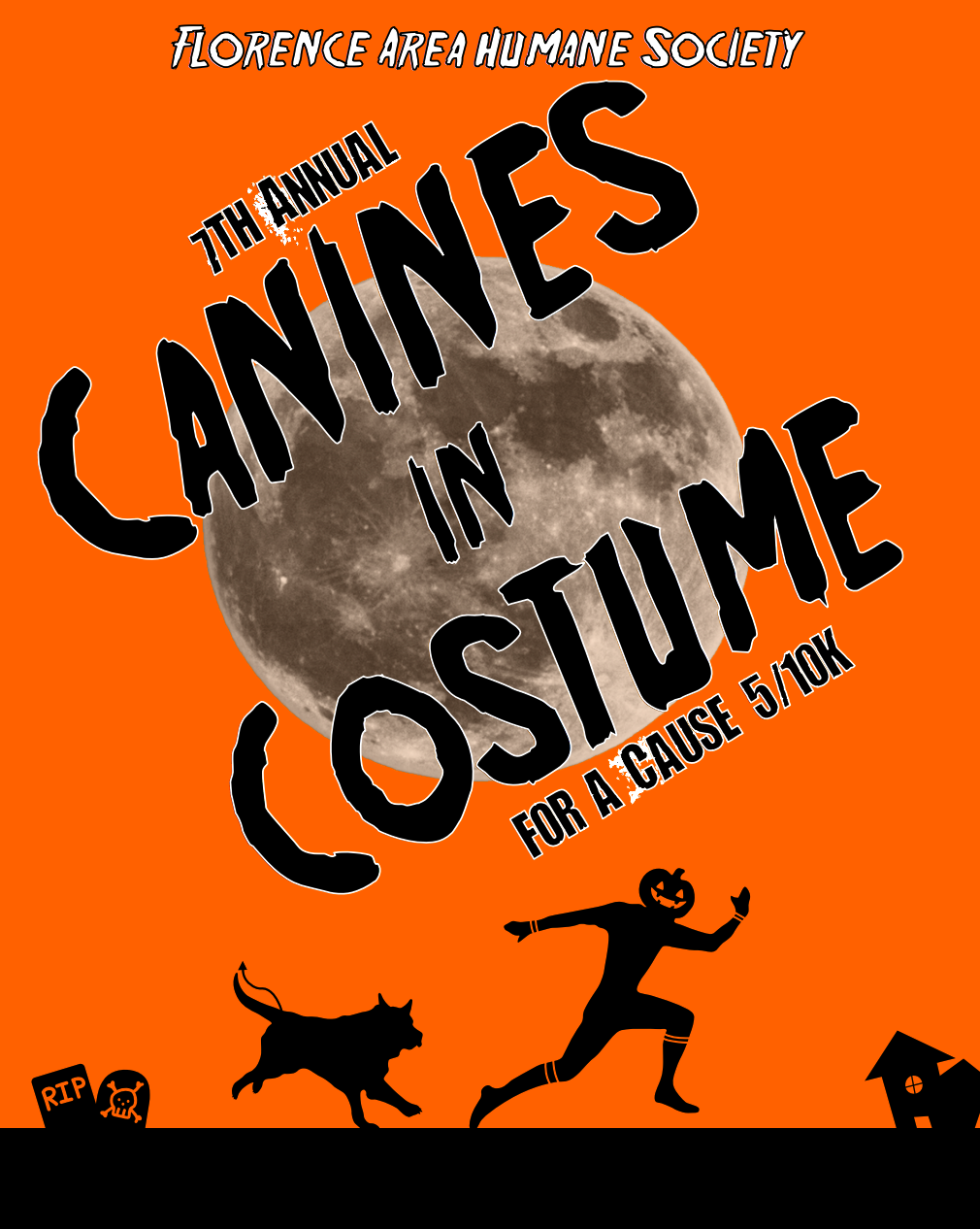 Canines in Costume Run Poster